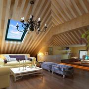 阁楼原木客厅吊顶设计