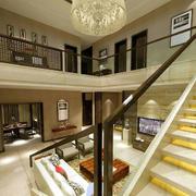 简约中式现代化楼梯装饰