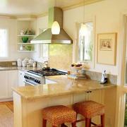 美式别墅暖色系厨房装饰
