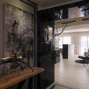 三室一厅客厅玄关装饰