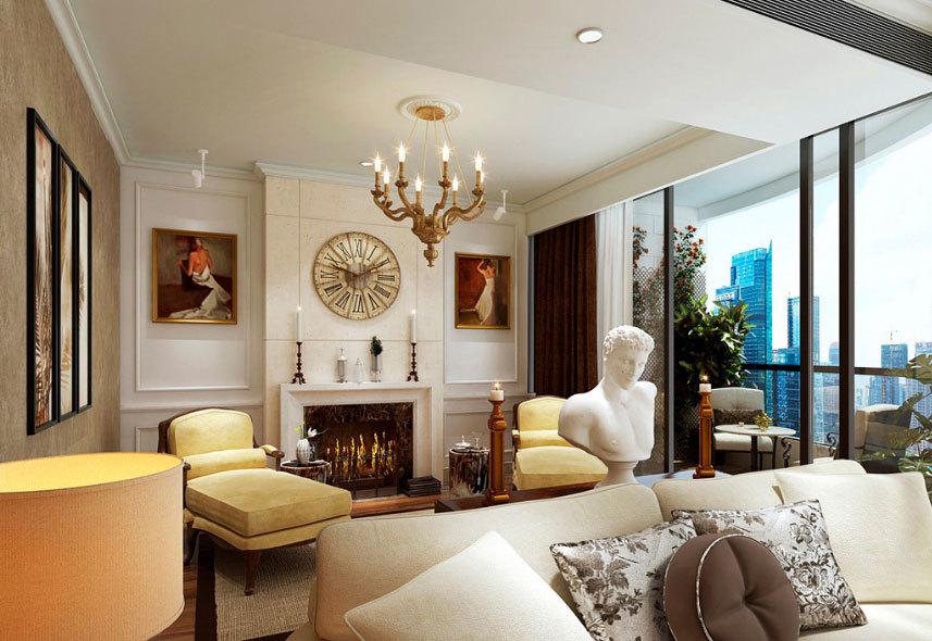 价值千万的豪宅 简欧式复式楼别墅装修设计效果图