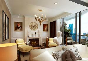 美式复式别墅客厅设计