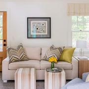 美式样板房客厅沙发设计