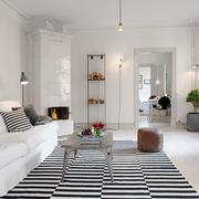 北欧风格浅色客厅装饰