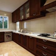 美式深色厨房效果图