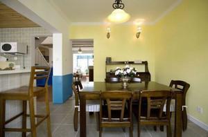 海边的餐厅 地中海风格餐厅装修效果图