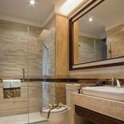 简欧风格卫浴墙饰瓷砖设计