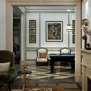 欧式风格别墅客厅背景墙装饰