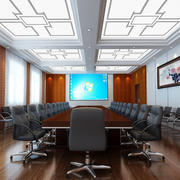 简约风格大型会议室效果图