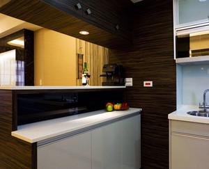 后现代风格深色厨房吧台装饰
