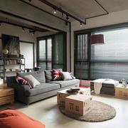 loft风格客厅工业风装饰
