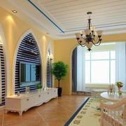 地中海客厅背景墙设计