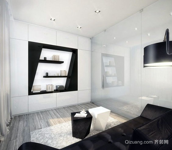 180平米线条简明白色黑图片后现代化独栋经典别墅罗马柱别墅图片