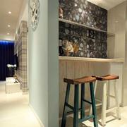 婚房客厅简约风格吧台设计