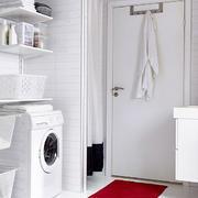 北欧风格洗衣房置物架设计