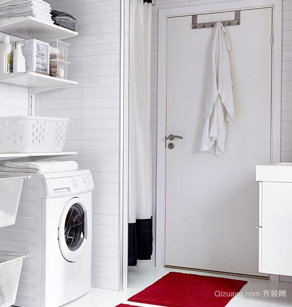 50平米清新简约混搭风格酒店洗衣房装修图