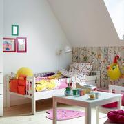 欧式田园风格儿童房背景墙