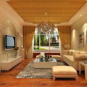 小户型欧式暖色系客厅设计