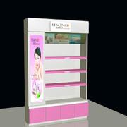 粉色时尚展柜效果图