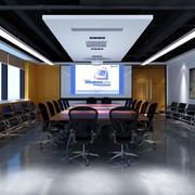 后现代风格深色会议室装饰