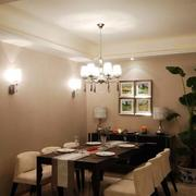 三室一厅餐厅效果图