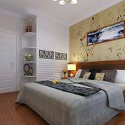 欧式卧室印花床头背景墙