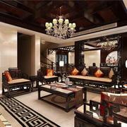 四合院大型客厅装饰吊顶设计