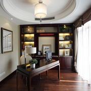 中式书房原木地板装饰