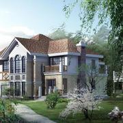 幽静型乡村别墅设计