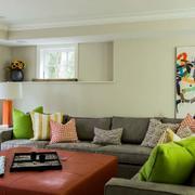 美式样板房混搭风格客厅设计