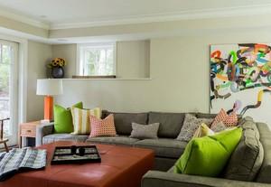 2015现代清爽美式风格大户型样板房装修效果图