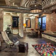 loft风格客厅吊顶设计