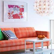 北欧风格浅橘色沙发设计