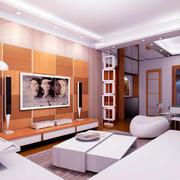 小户型原木电视背景墙