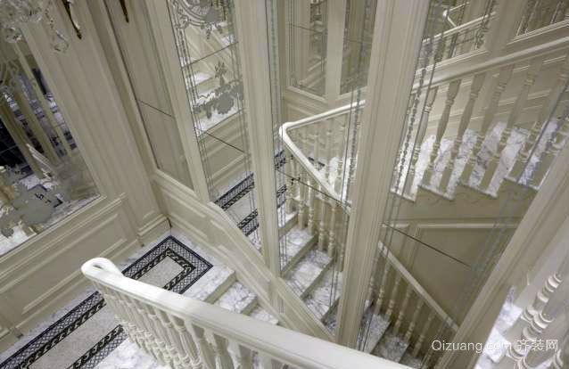 欧式古典的楼梯装修效果图展示