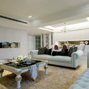 欧式新房客厅地毯效果图