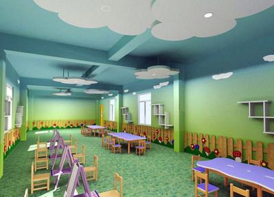 轻快幼儿园教室布置效果图实例鉴赏