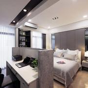 别墅后现代风格卧室隔断装饰