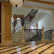 简欧风格旋转楼梯装饰