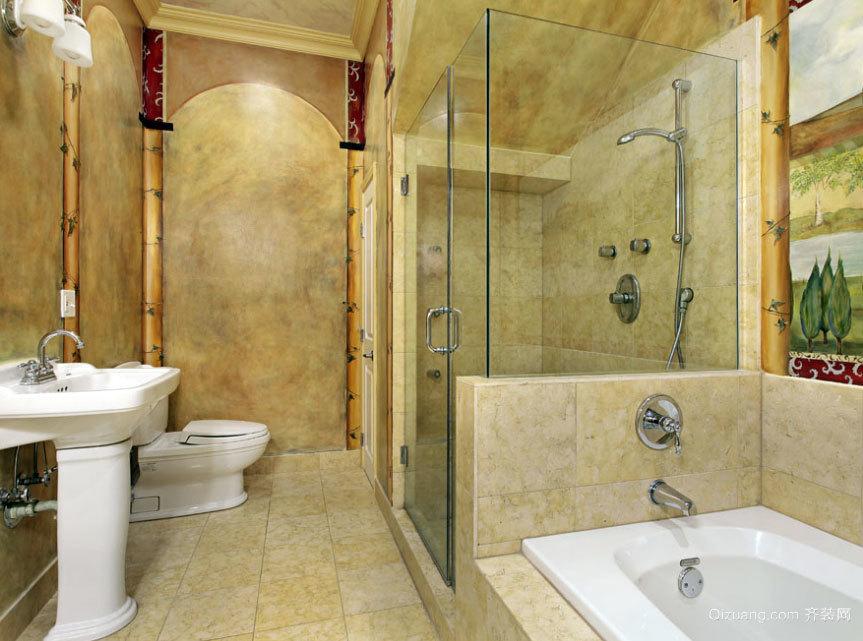 90平米大户型精致豪华的浴室装修效果图实例鉴赏