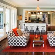 美式风格家装地板装饰