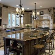 美式开放式厨房样板房
