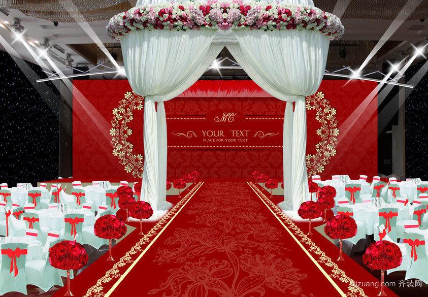 2015都市男女梦幻浪漫的婚礼现场布置设计效果图