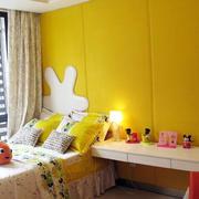 儿童房石膏板床头墙饰设计