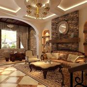 美式别墅客厅飘窗设计