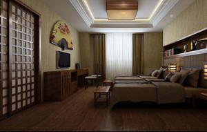简约时尚 素雅大方的日式风格卧室装修效果图