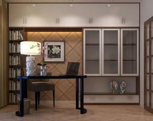 新中式简约书房橱柜装饰