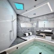 后现代风格别墅卫生间浴室装饰