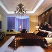 欧式卧室浅黄色壁纸装饰