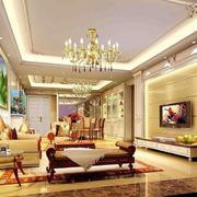 欧式深色客厅背景墙装饰